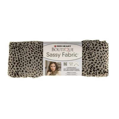 Red Heart Yarn Boutique Sassy Fabric White Cheetah