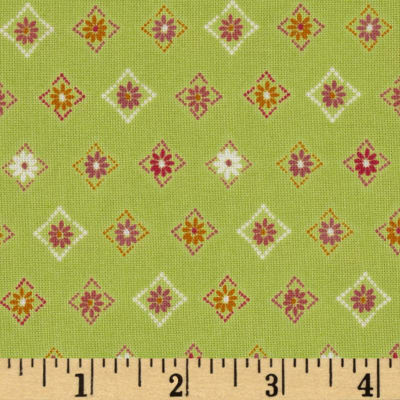 Pocketful of Posies Decorative Diamonds Green