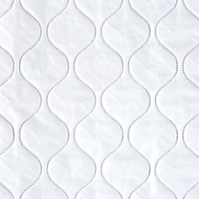 Quilted Vinyl Solid White