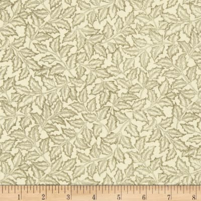Moda Merriment Holly Leaves Ivory/Green