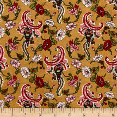 Small Floral Gold/Multi
