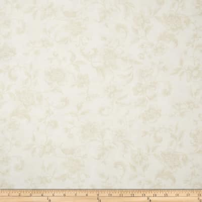 "108"" Wide Whisper Print Floral Toile Cream"