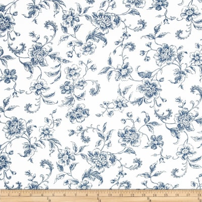"108"" Wide Whisper Print Floral Toile Blue"