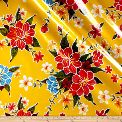 Oilcloth Hibiscus Yellow
