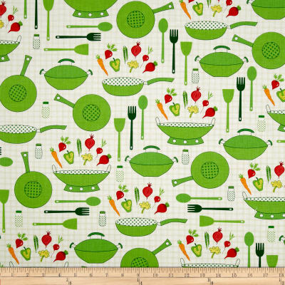 Cultivate and Cook Kitchen Ware White