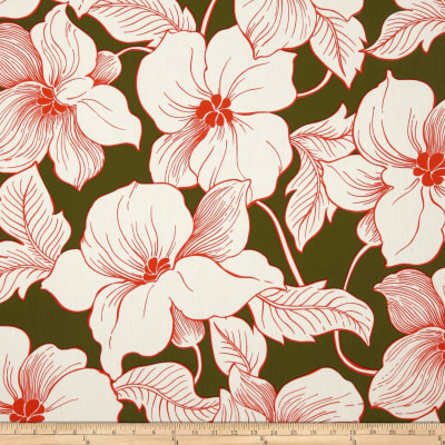 Surf N' Sand Tropicals Large Floral Green