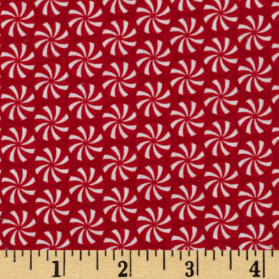 Riley Blake Home for the Holidays Peppermint Red