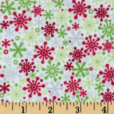 Riley Blake Home for the Holidays Flannel Flake Multi