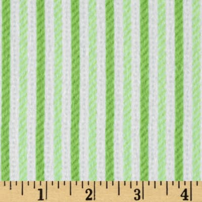 Riley Blake Home for the Holiday's Flannel Stripe Green