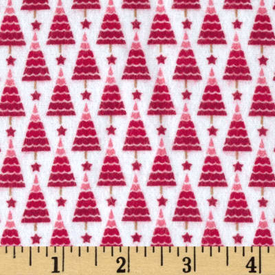 Riley Blake Home for the Holiday's Flannel Tree Red