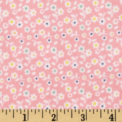 Riley Blake A Beautiful Thing Flannel Floral Pink