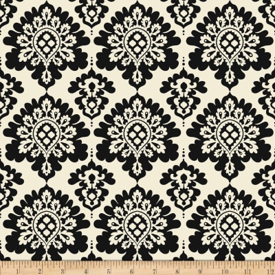 Riley Blake Lost & Found Christmas Damask Black