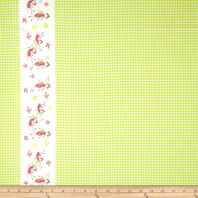Riley Blake Butterfly Dance Double-Border Green