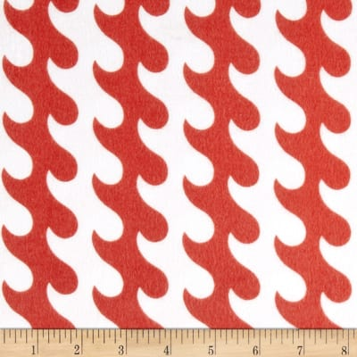 Riley Blake Fly Aweigh Flannel Waves Red