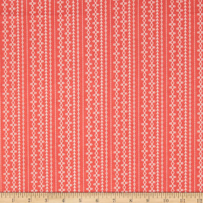 Riley Blake Floriography Stripes Coral