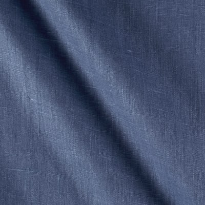 European 100% Linen Pacific Blue