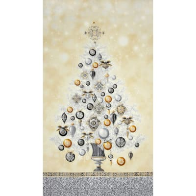 Winter's Grandeur Metallic Tree Panel Winter