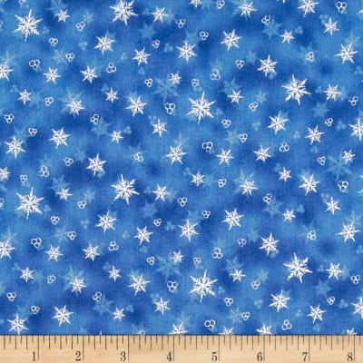 Holiday Accents Classics 2014 Snowflake Metallic Blue