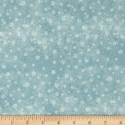 Winter Frost Stars Light Blue