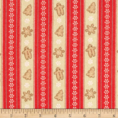 Cocoa & Cookies Flannel Stripe Red