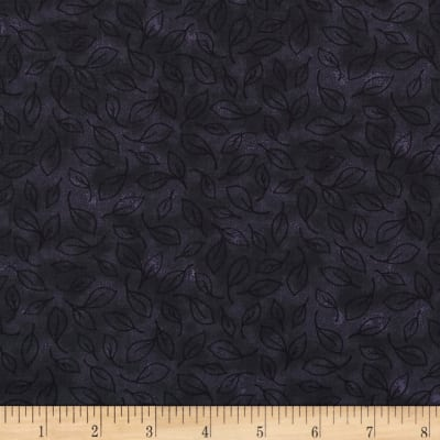 Midnight Leaf Toile Black