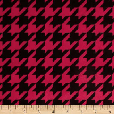 Minky Houndstooth Red/Black