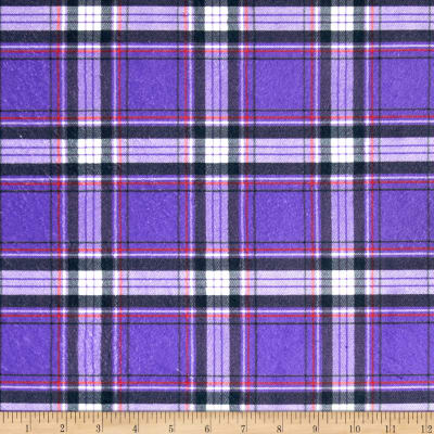 Minky New Plaid Purple