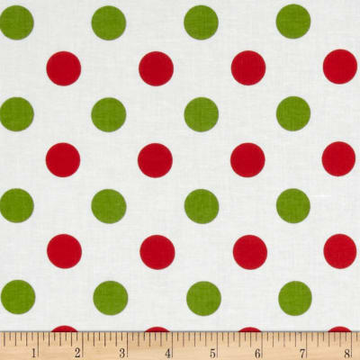 Riley Blake Christmas Basics Medium Dots Christmas
