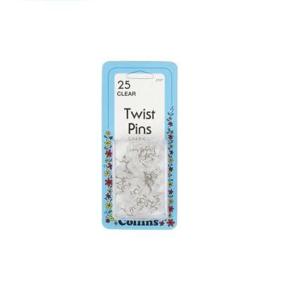 Twist Pins-25/Pkg Clear