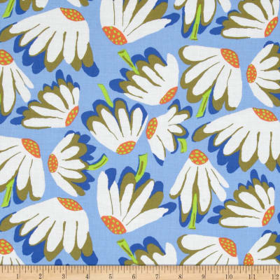 Kaffe Fassett Spring 2014 Collective Water Lazy Daisy Blue