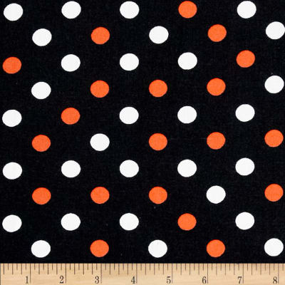 Halloween Basics Dots Black/Multi