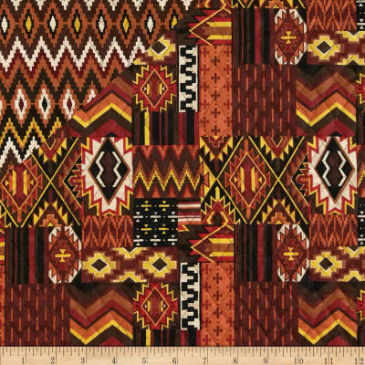 Mesa Verde Double Sided Quilted Aztec Brown