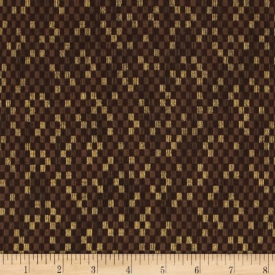 Narumi Metallic Abstract Check Brown/Gold