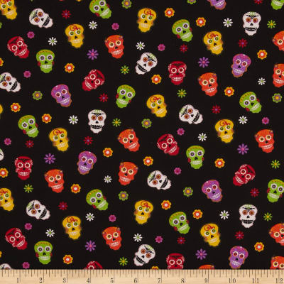 Horror Scope Tossed Skulls Black