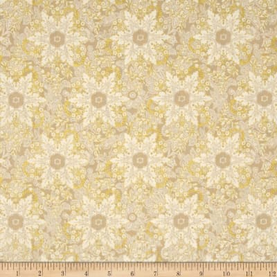 Pear Tree Greetings Metallic Snowflakes Cream/Gold