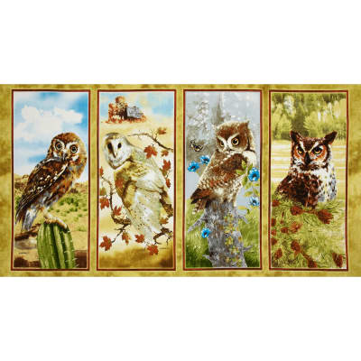 "Owls of Wonder 24"" Panel Multi"
