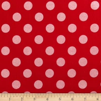 Riley Blake Hollywood Sparkle Medium Dot Red