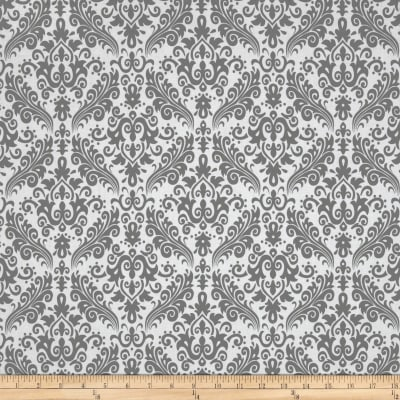 Riley Blake Medium Damask White/Grey