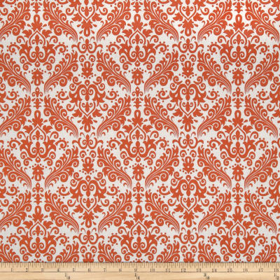 Riley Blake Medium Damask White/Orange