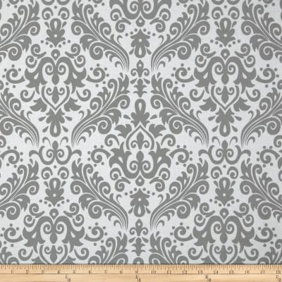 Riley Blake Large Damask White/Grey