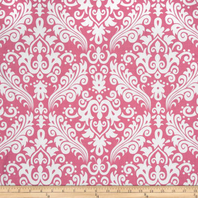 Riley Blake Large Damask Hot Pink