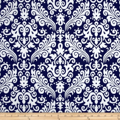 Riley Blake Large Damask Navy