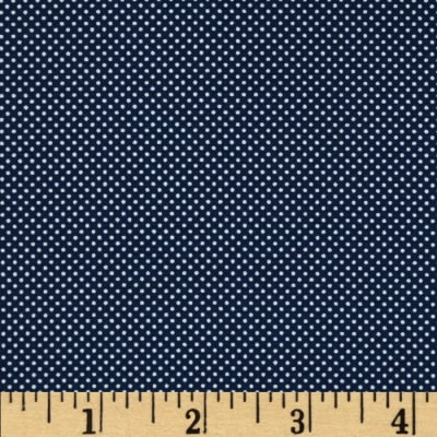 Morocco Blues Stretch Poplin Dots Navy