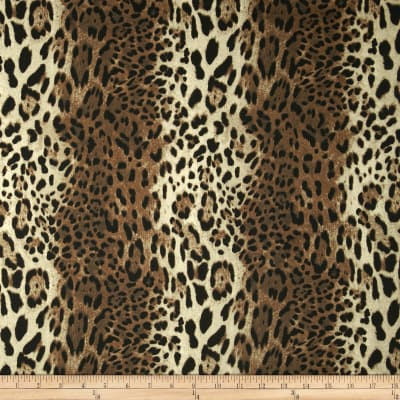 Bloom Stretch Cotton Sateen Leopard Brown