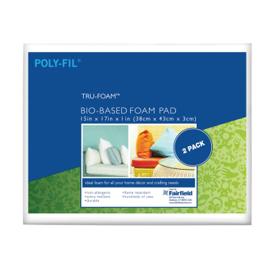 "Fairfield Poly-Fil Tru-Foam 2 Pack Cushion 15"" x 17"" x 1"""