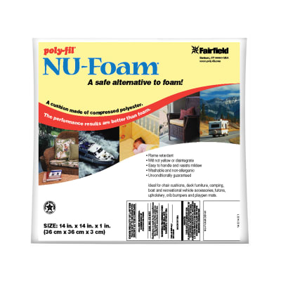 "Fairfield Poly-Fil Nu-Foam 14"" x 14"" x 1"""