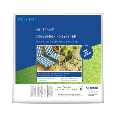 "Fairfield Poly-Fil Nu-Foam 15"" x 17"" x 3"""