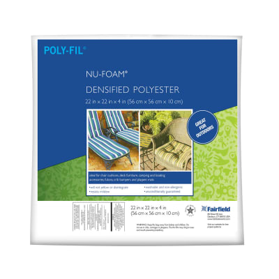 "Fairfield Poly-Fil Nu-Foam 22"" x 22"" x 4"""