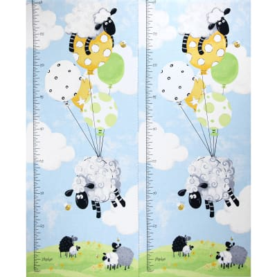 "Lewe's Balloons Lewe Growth Chart 36"" Panel Blue"