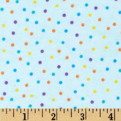 Flannel Mini Dots Blue